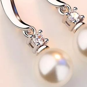 independent brand Jewelry - 💎NWOT Sterling silver, pearl, Zircon earrings